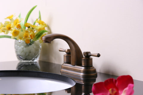 "4"" Duo Handle Faucet - Antique Brass"