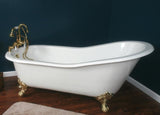 Samuel 67-inch Slipper Cast Iron Bathtub - Still Waters Bath - 2