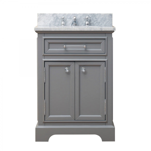 "Water Creation Derby 24G 24"" Cashmere Grey Single Sink Bathroom Vanity"