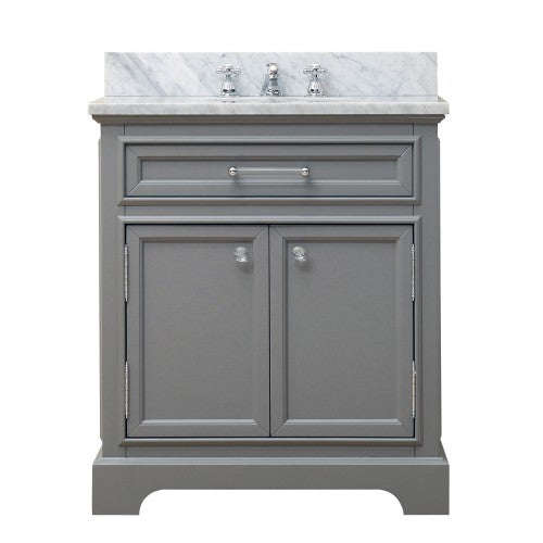 "Water Creation Derby 30"" Cashmere Grey Single Sink Bathroom Vanity"