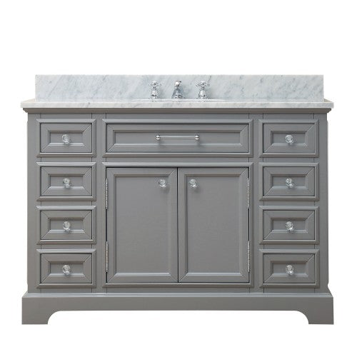 "Water Creation Derby 48"" Cashmere Grey Single Sink Bathroom Vanity"