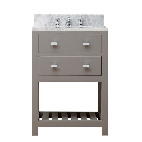 "Water Creation Madalyn 24"" Cashmere Grey Single Sink Bathroom Vanity"