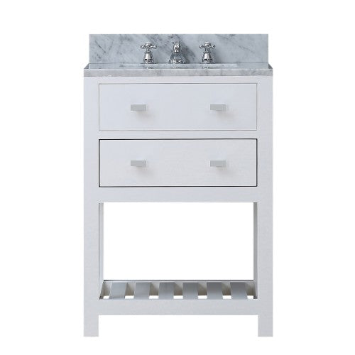 "Water Creation Madalyn 24"" Solid White Single Sink Bathroom Vanity"