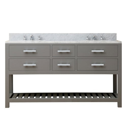 "Water Creation Madalyn 60"" Cashmere Grey Double Sink Bathroom Vanity"
