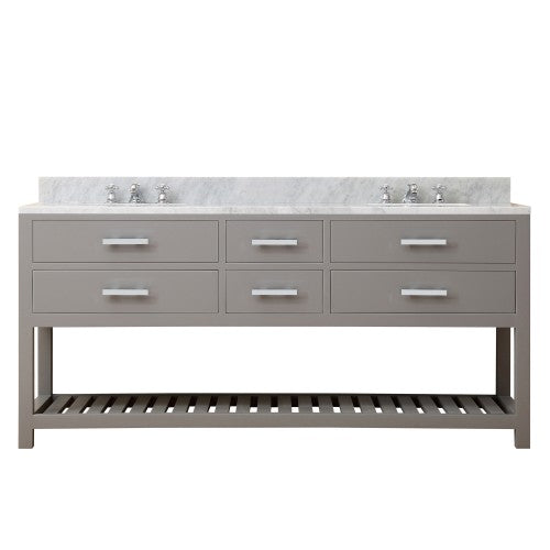 "Water Creation Madalyn 72"" Cashmere Grey Double Sink Bathroom Vanity"