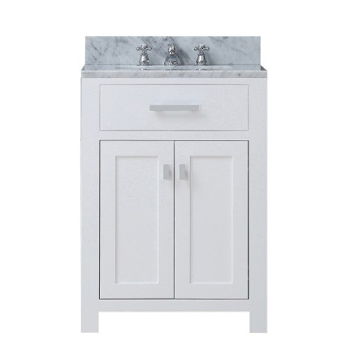 "Water Creation Madison 24"" Pure White Single Sink Bathroom Vanity"