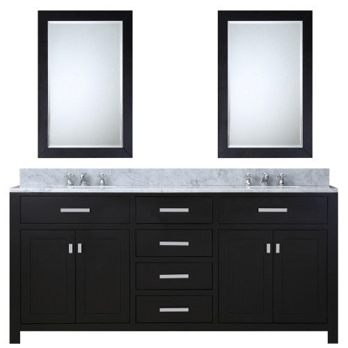 "Water Creation Madison 60"" Espresso Sink Bathroom Vanity With 2 Matching Framed Mirror"