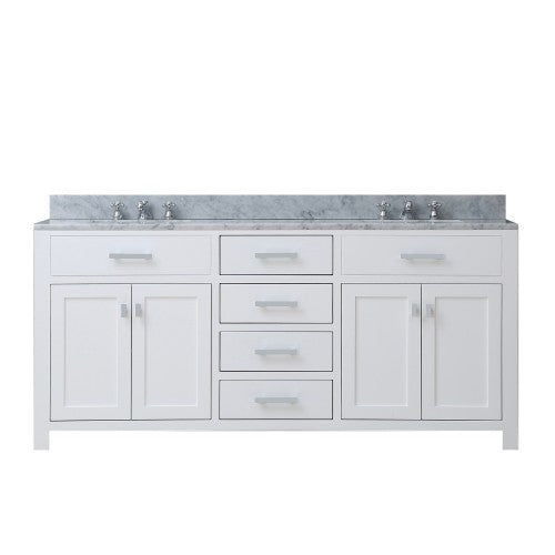 "Water Creation Madison 60"" Pure White Sink Bathroom Vanity"