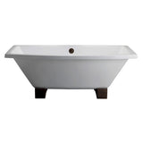 Nova 67-inch Rectangular Dual Cast Iron Bathtub - Still Waters Bath - 2