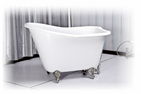 anna 51inch cast iron slipper bathtub