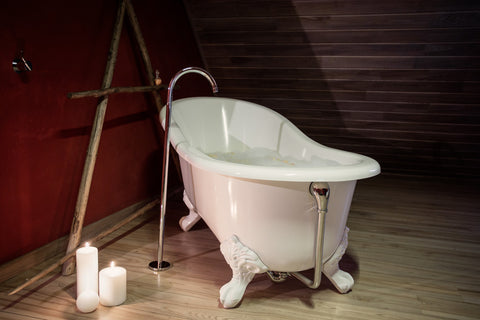 Samantha 61-inch Slipper Cast Iron Bathtub - Still Waters Bath - 1