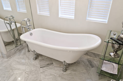 Laurel 67-inch Slipper Acrylic Bathtub - Still Waters Bath - 1