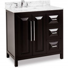 Cade Contempo Set - Dark Espresso Finish with Polished Chrome hardware