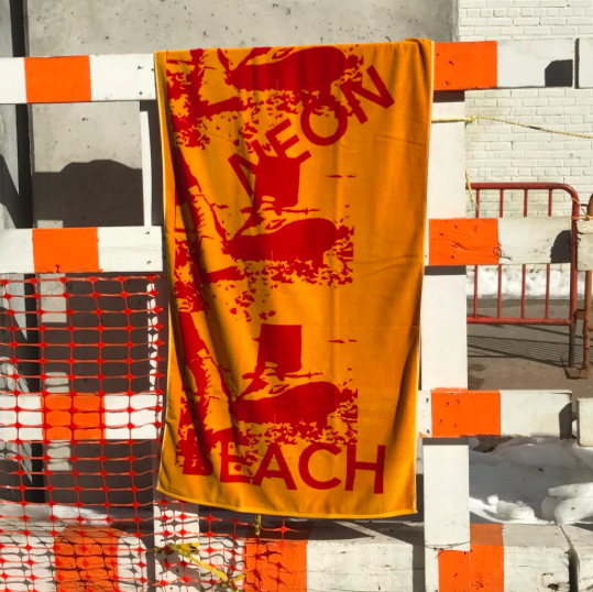 Neon Beach Beach towel