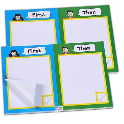 First/Then Schedule Notepads