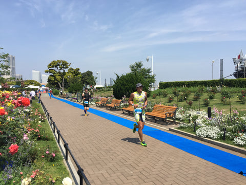 Yokohama ITU 2016 run course flower garden