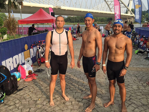 Temple crew swim course Putrajaya 70.3