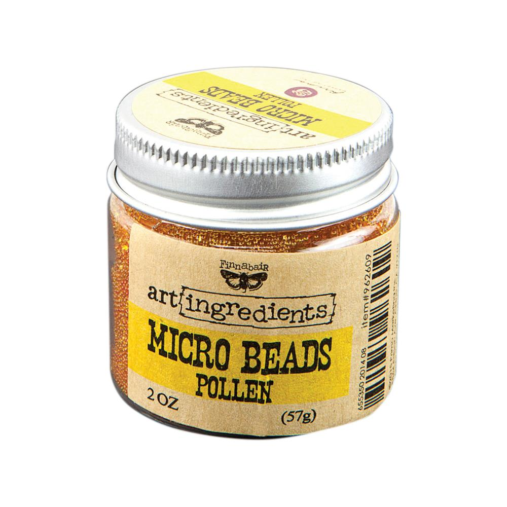 Finnabair Art Ingredients Micro Beads 2oz - Pollen 962609