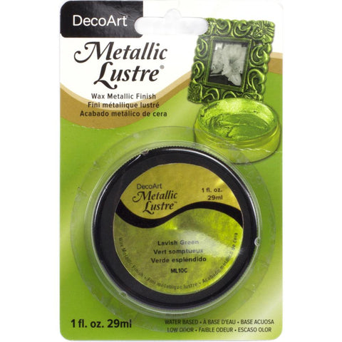 DecoArt Metallic Lustre Wax Finish 1oz - Lavish Green