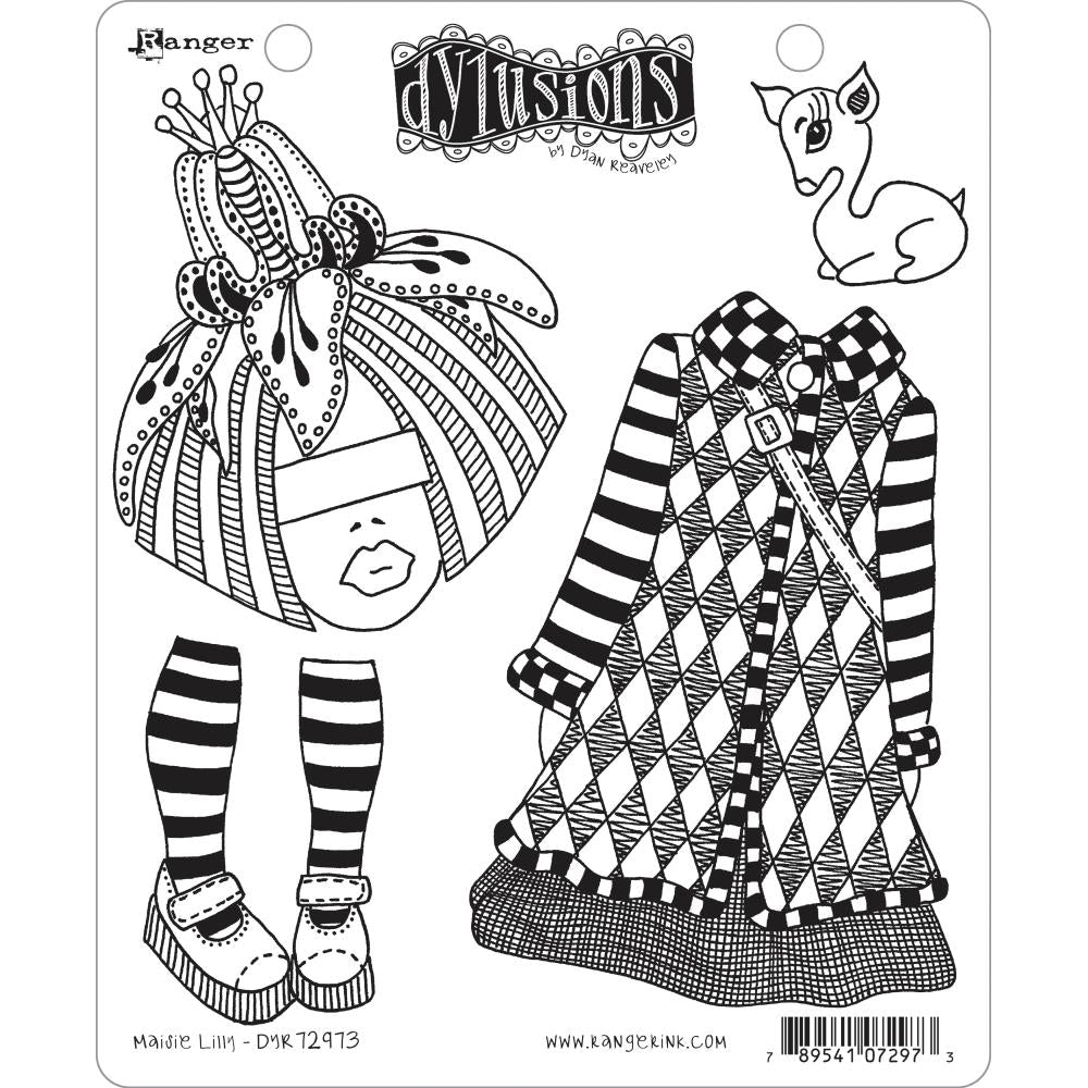 "Dyan Reaveley's Dylusions Cling Stamp Collections 8.5""X7"" - Maisie Lilly 72973"
