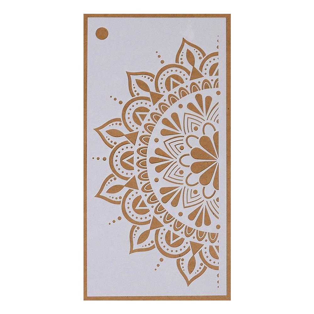 "Elizabeth Craft Stencil 4.3""X8.7"" - Spring Flower Mandala-Art Journal S033"