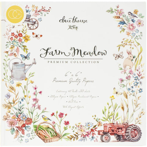 "Craft Consortium Double-Sided Paper Pad 6""X6"" 40/Pkg - Farm Meadow By Clare Therese Gray PPAD015B"