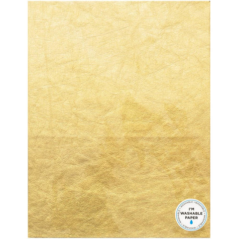 "American Crafts Washable Faux Leather Paper 8.5""X11"" - Gold 366782"