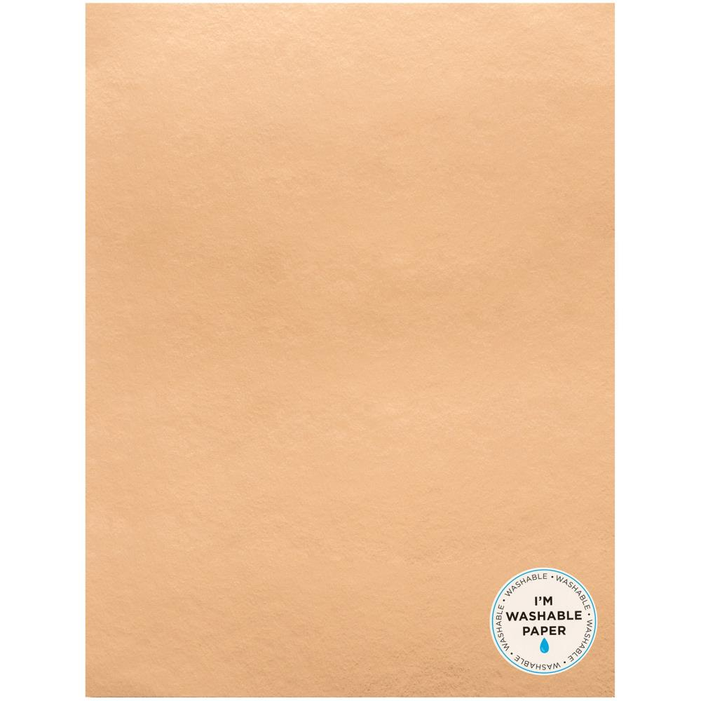 "American Crafts Washable Faux Leather Paper 8.5""X11"" - Rose Gold Shiny on one side 359620"