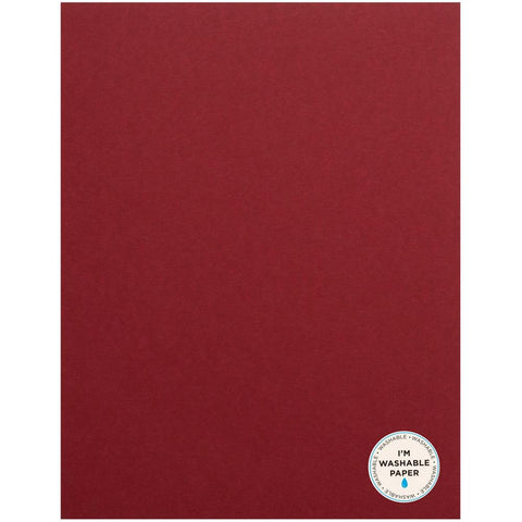 "American Crafts Washable Matte Paper 8.5""X11"" - Rouge 366780"