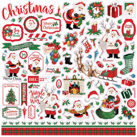 "Dear Santa Cardstock Stickers 12""X12"" - Elements DE125014"