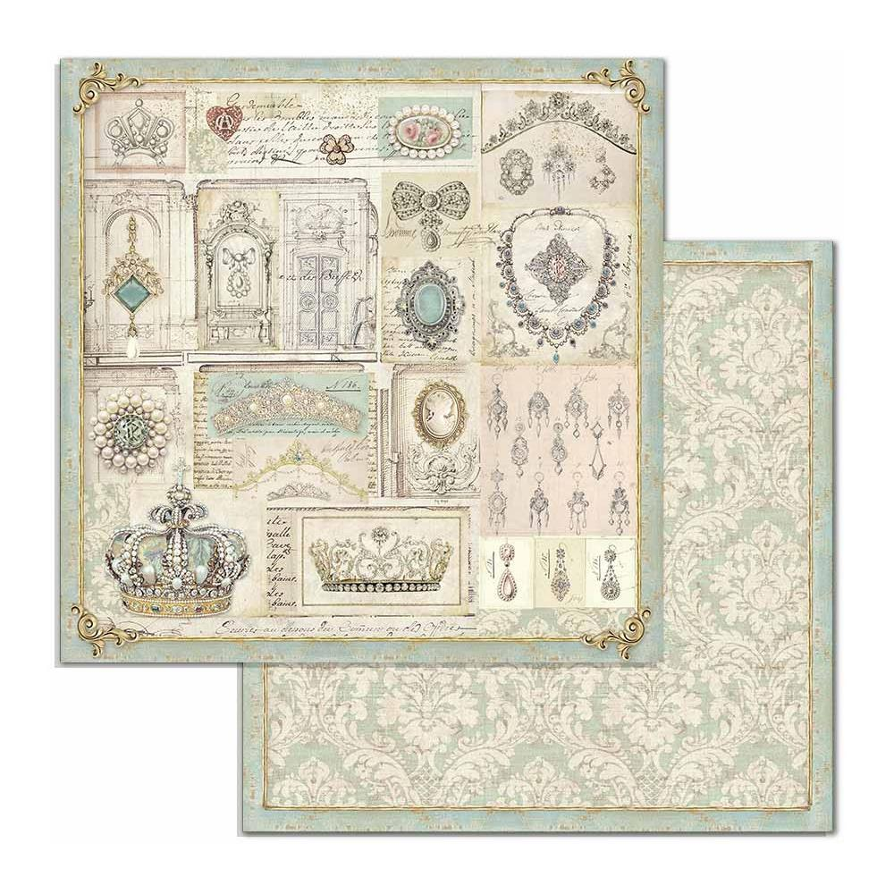 "Stamperia Double-Sided Cardstock 12""X12"" - Jewelry, Princes SBB715"