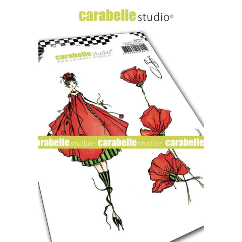 Carabelle Studio Cling Stamp A6 By Soizic - The Fairy Coquelicot SA60515