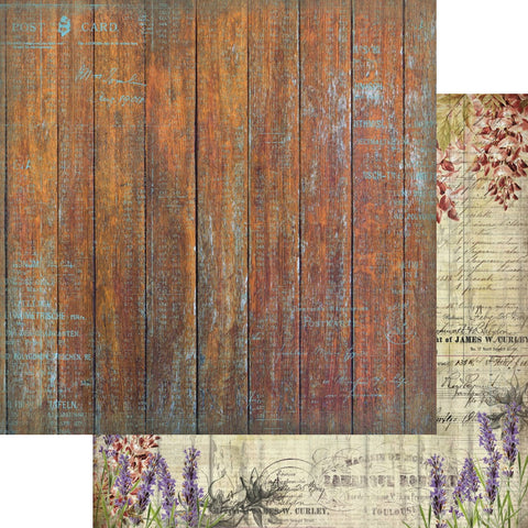 13arts -  Tattered wood paper 12 x 12