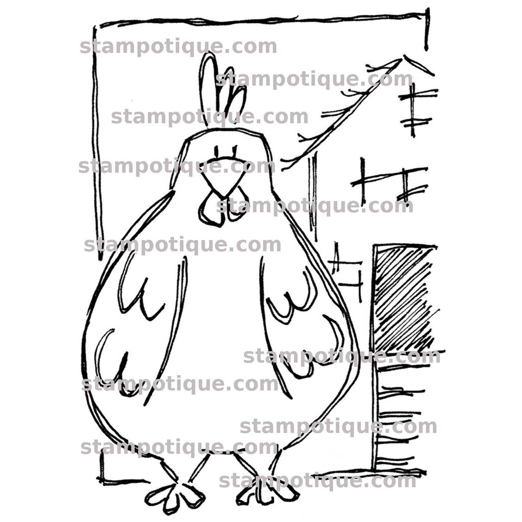 Stampotique Originals - Terri's Rooster 13045