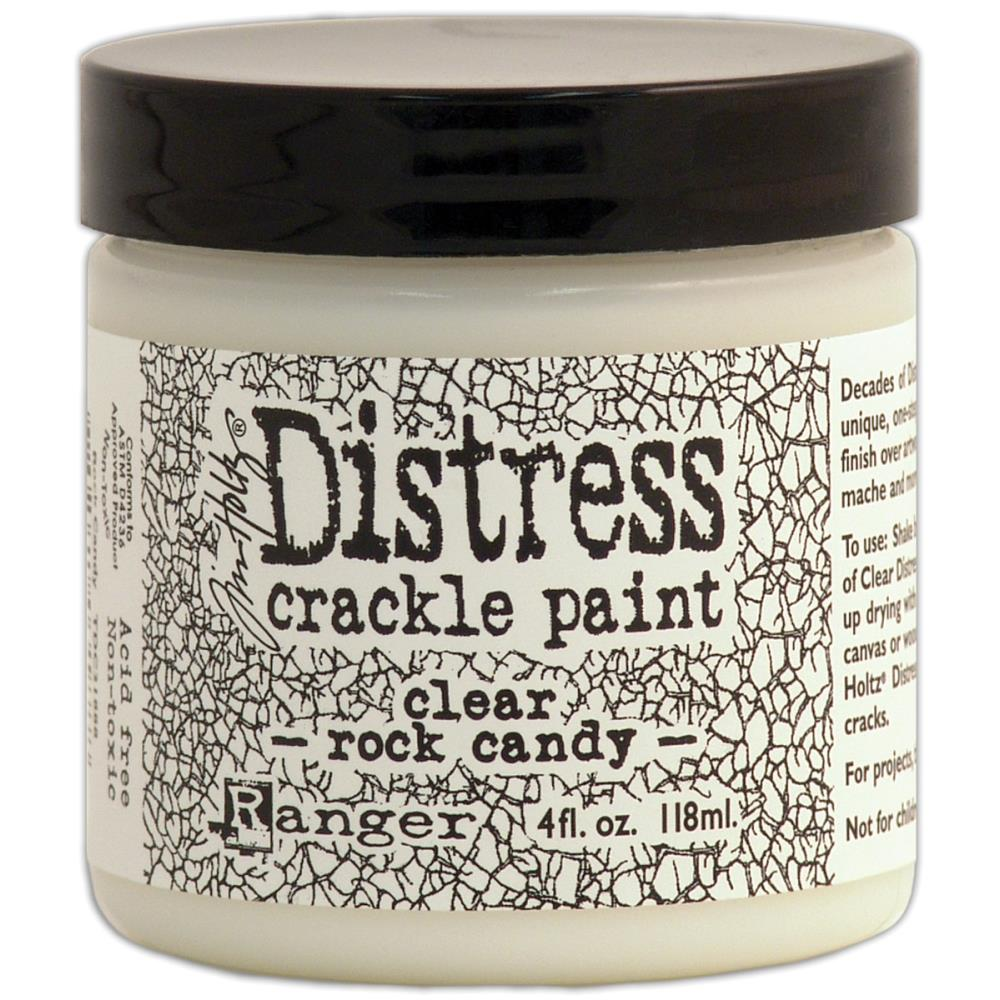 Distress Crackle Paint 4oz - Clear Rock Candy