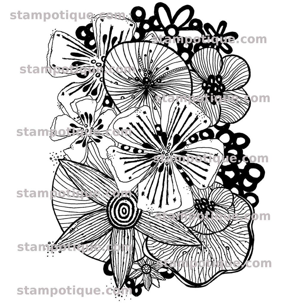Stampotique Originals - Flower Frenzy 14034