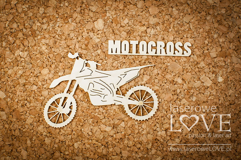 Laserowe Love - Chipboard - Motocross 171218