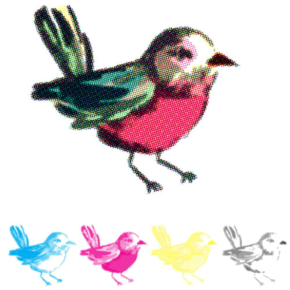 "We R Memory Keepers CMYK Stamp 3""X3"" - Bird"