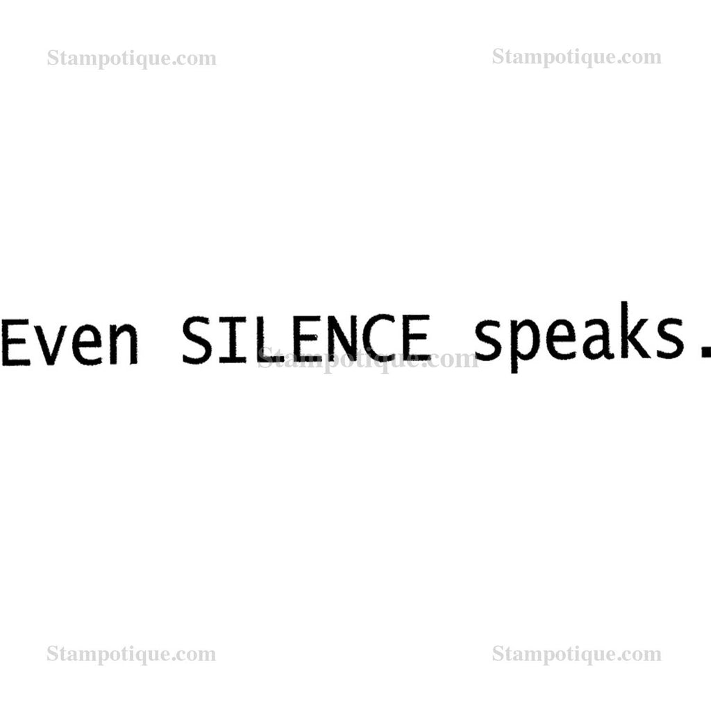 "Silence Speaks - Wood Mount Size: 1"" X 3.5"""