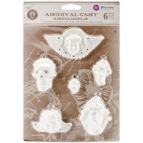 Prima Marketing Relics & Artifacts Archival Cast - Archangels, 6/Pkg