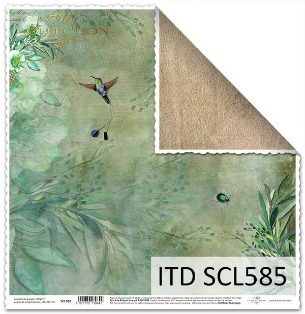 ITD Collection - Scrapbooking paper SCL585 12 x 12