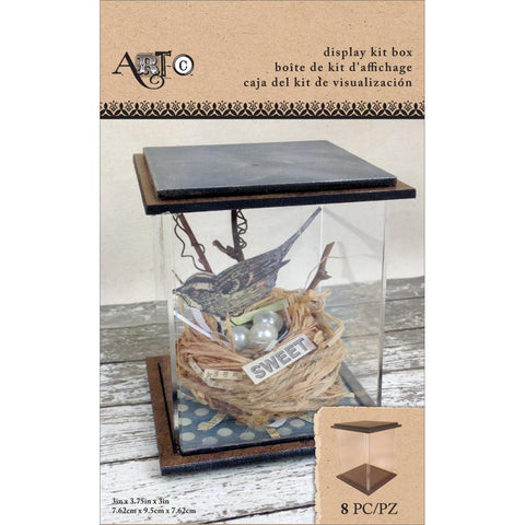 "Art-C Masonite & Acrylic Display Box Kit - 3""X3.75""X3"""