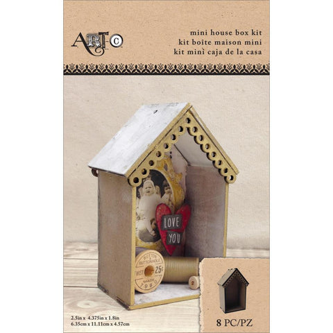 "Art-C Masonite Mini House Box Kit - 2.5""X4.375""X1.8"""