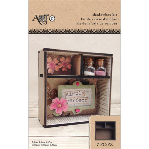 "Art-C Masonite Shadowbox Kit - 3.5""X3.5""X1.37"""
