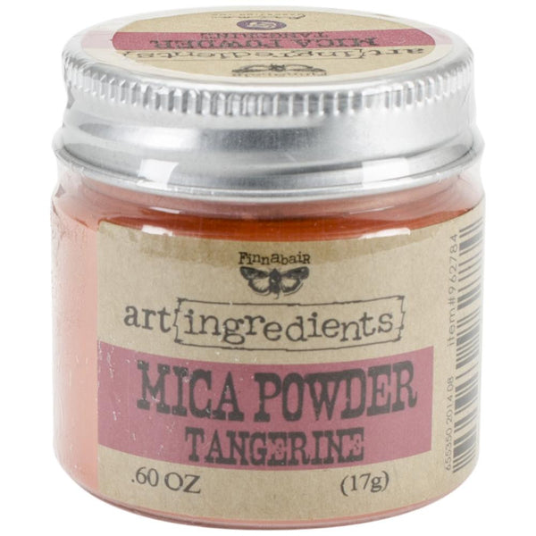 Finnabair Art Ingredients Mica Powder .6oz - Tangerine