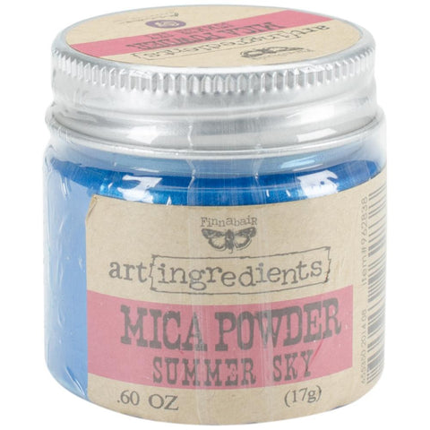 Finnabair Art Ingredients Mica Powder .6oz - Summer Sky