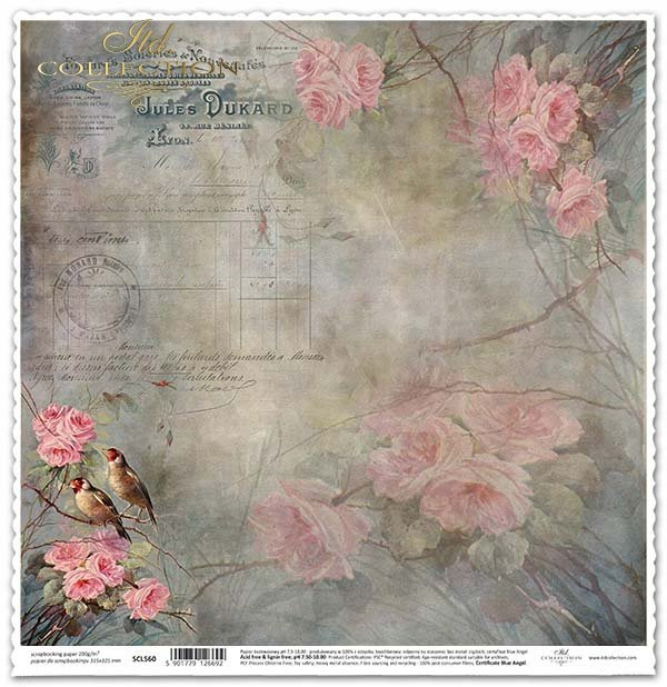 ITD Collection - Scrapbooking paper SCL560 12 x 12