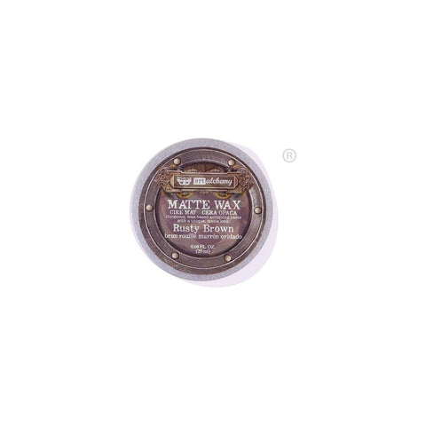 Finnabair Art Alchemy Matte Wax .68 Fluid Ounce - Rusty Brown 967888