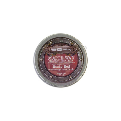 Finnabair Art Alchemy Matte Wax .68 Fluid Ounce - Rusty Red 967895