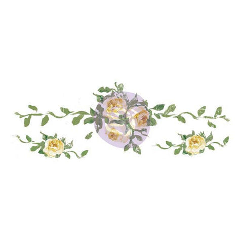 "Prima Marketing Dresser Ups Transfer - Large Yellow Rose, 18.5""X6.5"""
